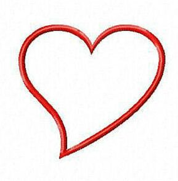 592x600 Pictures Of Valentine Heart Valentine Heart Outline Main Full Free