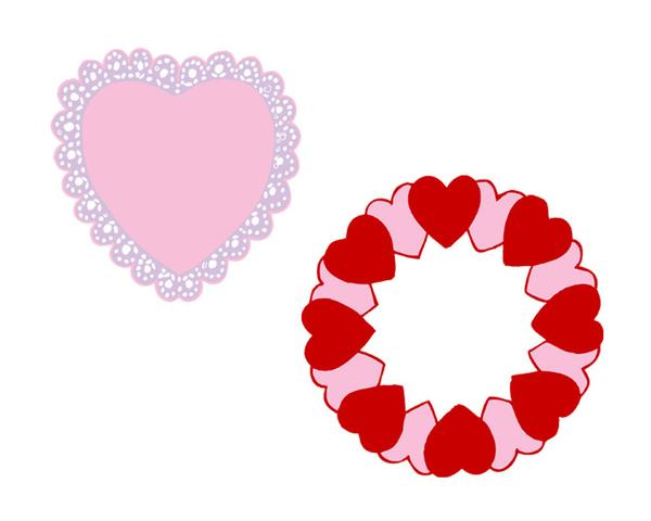 600x480 Pink And Red Valentine Heart Clip Art Frames Printable Clipart