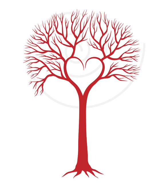 570x641 Red Wedding Tree With Heart, Wedding Invitation, Wedding Gift