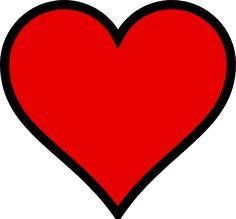 236x219 Heart Stencil Plain Heart Clip Art