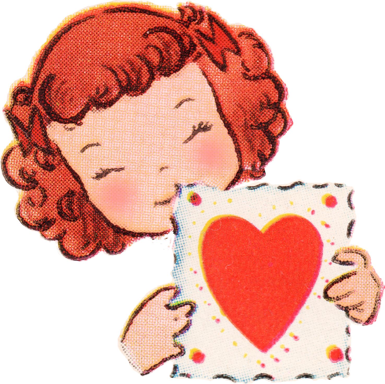 1475x1468 Free Vintage Valentines Day Clip Art
