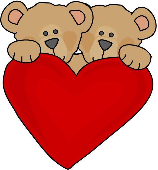 625x672 Hearts Clipart Bear