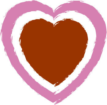 350x343 Printable Double Border Heart Clip Art