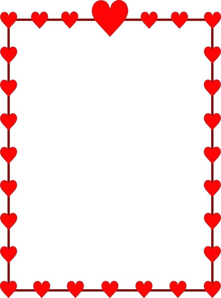 736x990 Printable Valentine Border Clip Art Valentines Day Borders Ruler
