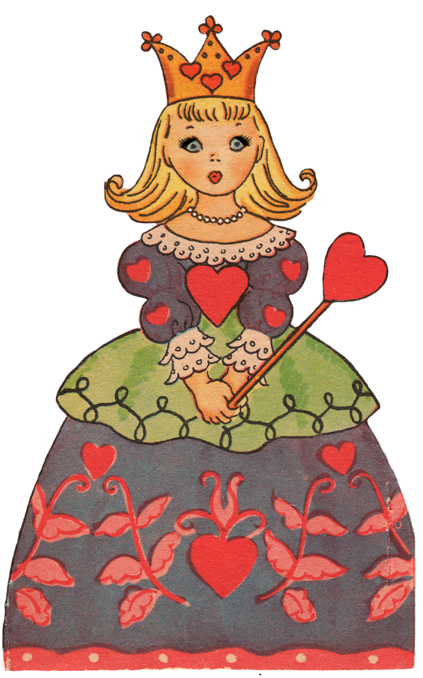 1713x2745 Valentines Day Clip Art Queen Of Hearts