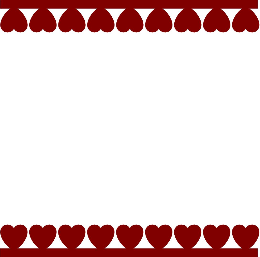 1090x1080 Valentines Borders