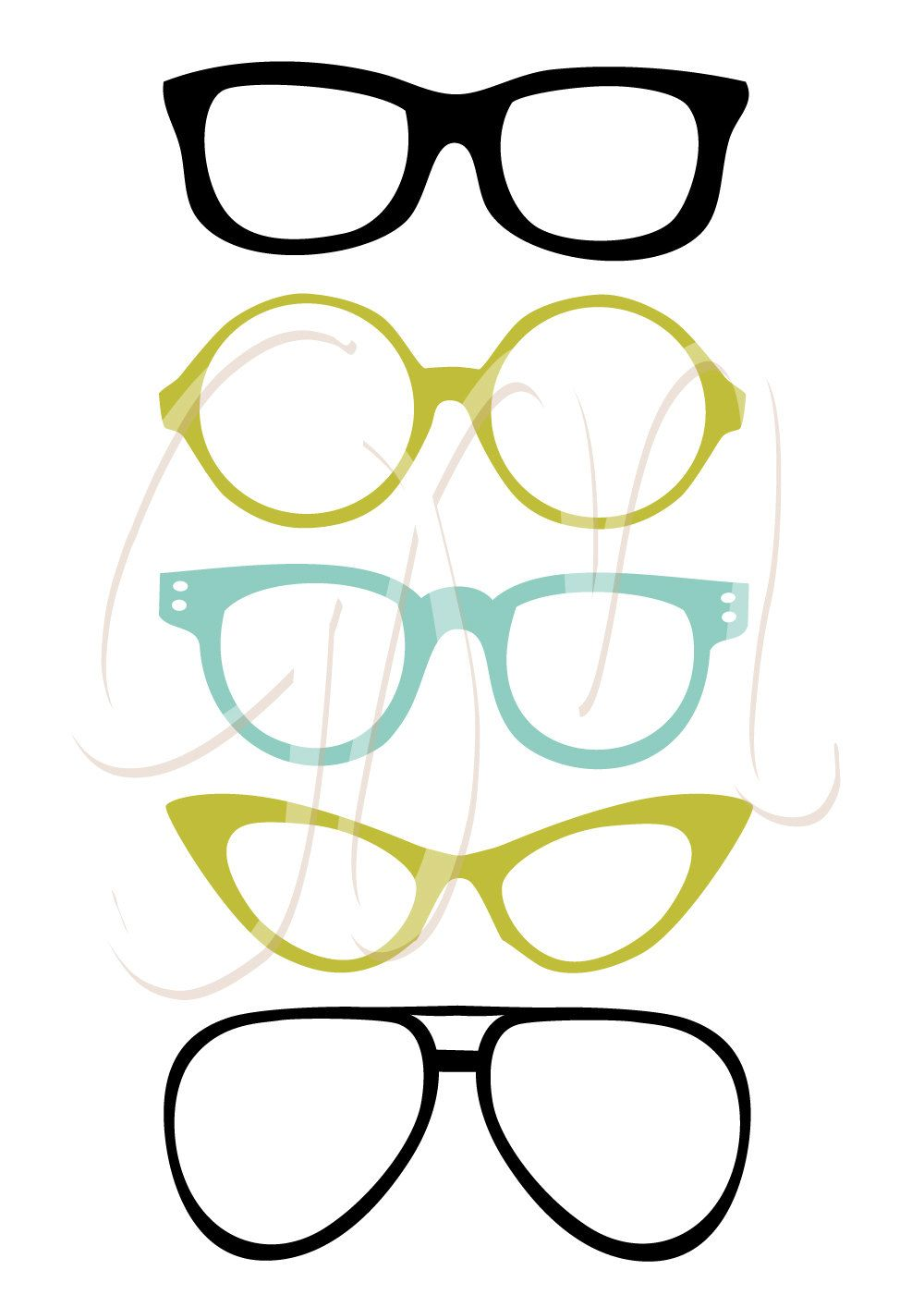1000x1414 Mustache, Spectacles And Lips Kiss Digital Clipart Set. Diy Photo