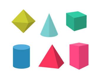 340x270 Geometric Shapes Clip Art With Line Art