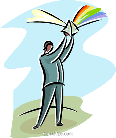 404x480 Man With A Prism Reflecting Light Royalty Free Vector Clip Art