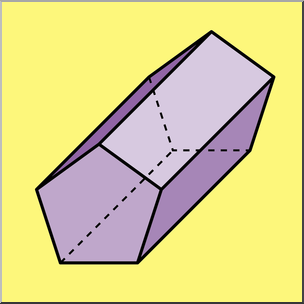 304x304 Clip Art 3d Solids Pentagonal Prism Color I Abcteach