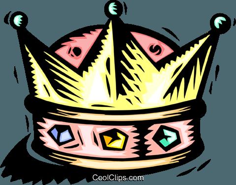 480x377 Crown Royalty Free Vector Clip Art Illustration Hous1302