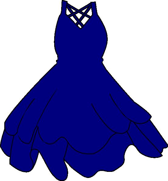 552x595 Navy Dress Clip Art