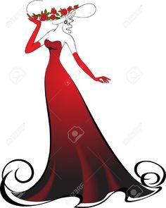 236x295 7107774 Evening Dress Black On Hangers Stock Vector Silhouette.jpg