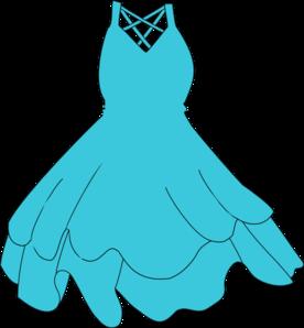 276x298 Turquoise Dress Clip Art