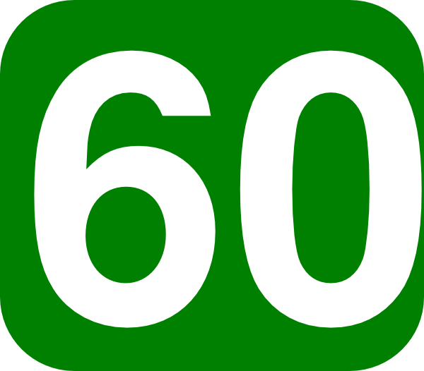600x526 Number 60 Images 60 Days Green White Clip Art