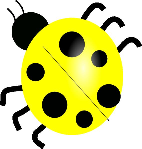570x596 Yellow Ladybugs Yellow Ladybug Clip Art