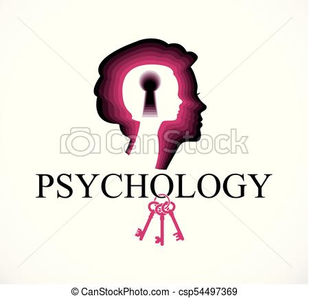 450x434 Psychology Vector Logo Created With Woman Head Profile And Clip
