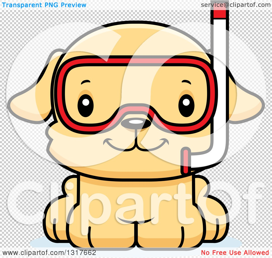 1080x1024 Animal Clipart Of A Cartoon Cute Happy Puppy Dog In Snorkel Gear