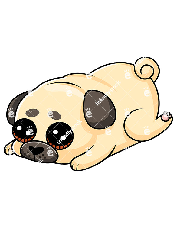 585x755 Awesome To Do Pug Clipart Cute Puppy Laying Down Feeling Guilty