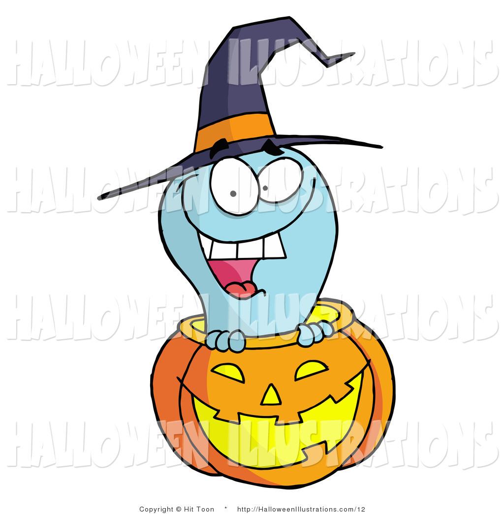 1024x1044 Vector Halloween Cliprt Happy Blue Ghost Peeking Out