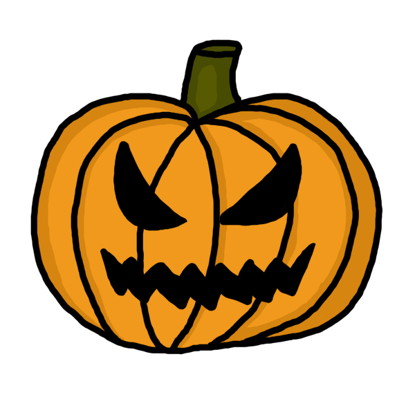 600x600 Collection Of Scary Pumpkin Face Clipart High Quality, Free