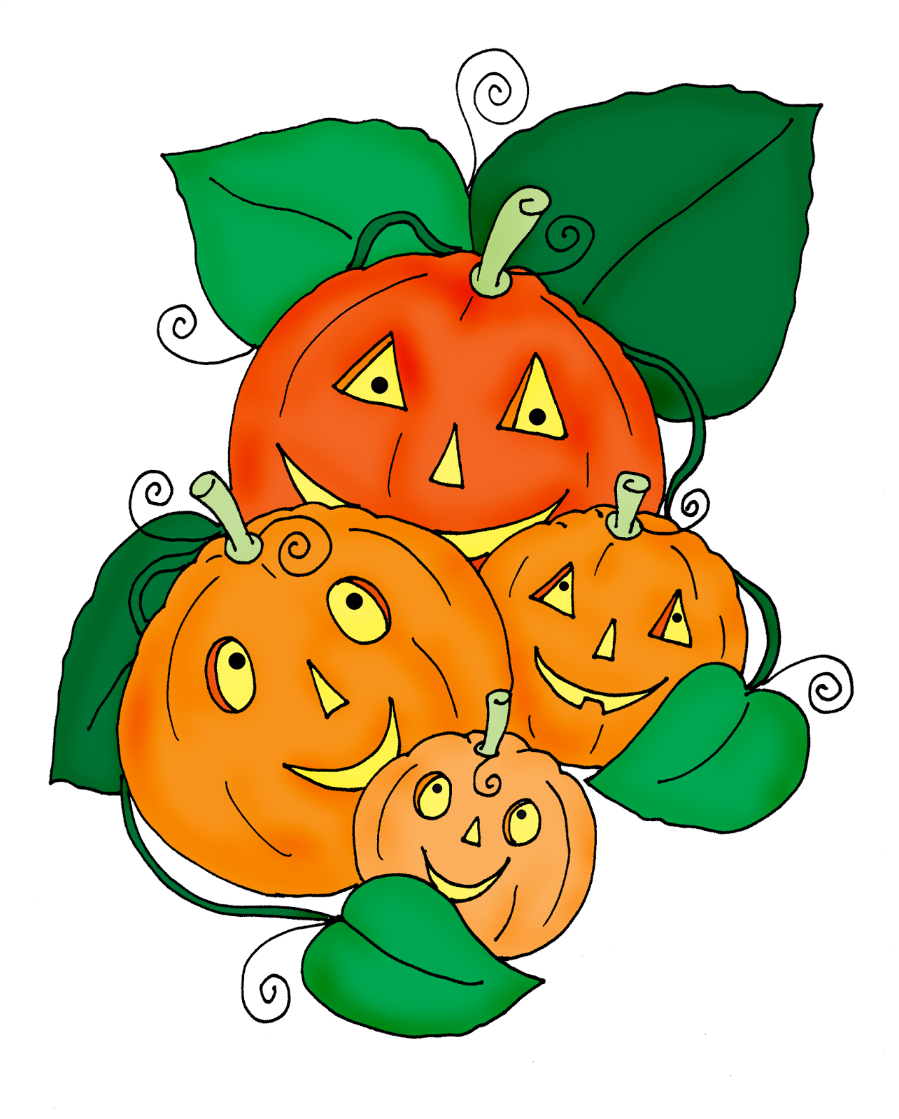 1285x1600 Free Dearie Dolls Digi Stamps Pumpkin Patch Family Of Four Fall