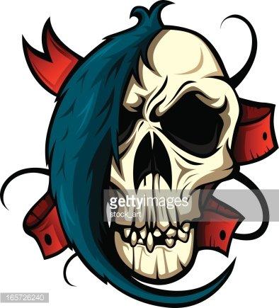 394x435 Punk Skull Premium Clipart