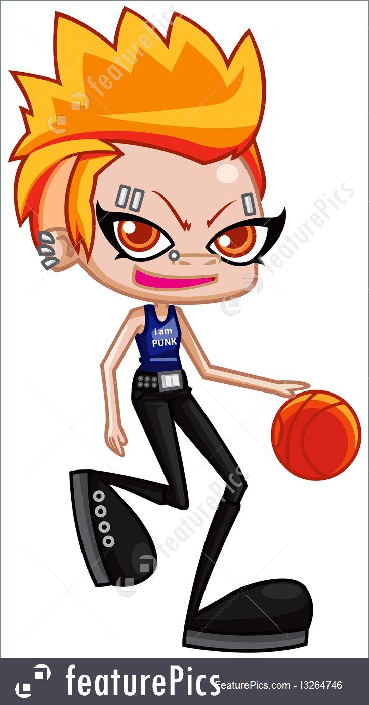 729x1392 Punk Teen Girl Cartoon Illustration