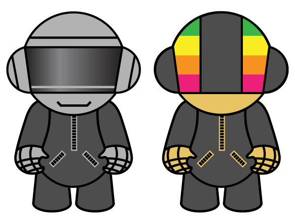 600x455 Vector Resource Daft Punk Dolls Download Free Vector Art Free