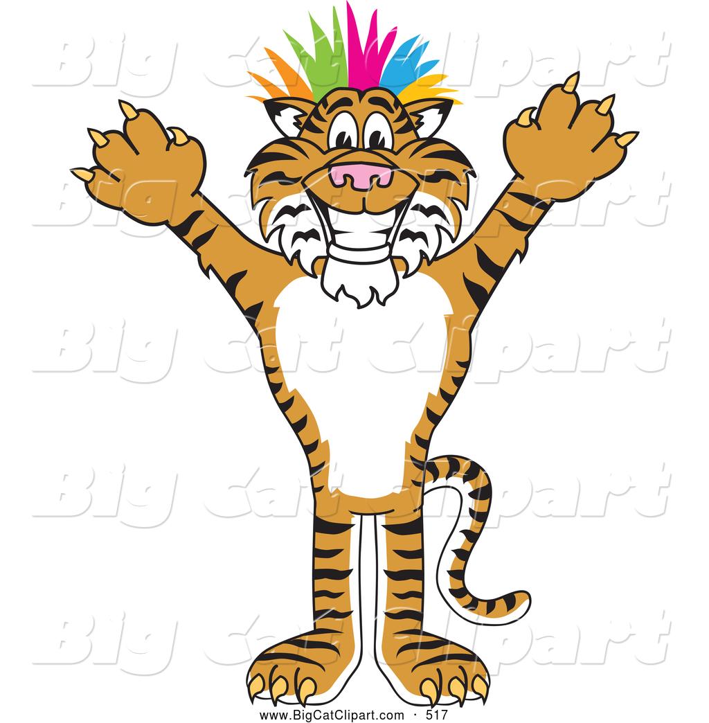 1024x1044 Big Cat Cartoon Vector Clipart Of A Happy Tiger Character School