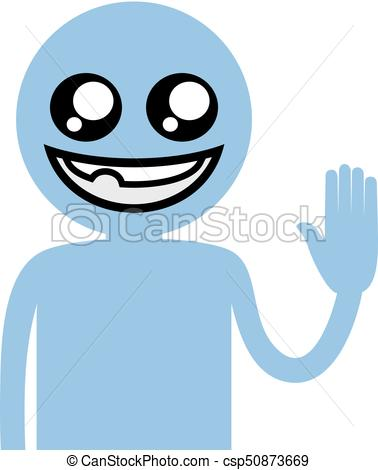 378x470 Creative Design Of Funny Blue Puppet Clip Art Vector