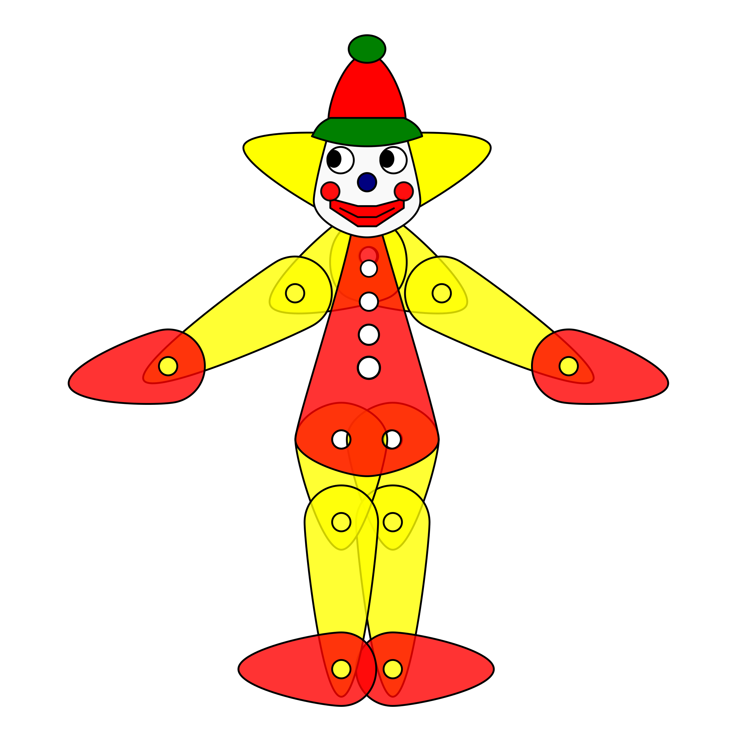2400x2400 Toy Clown Puppet Animation Icons Png