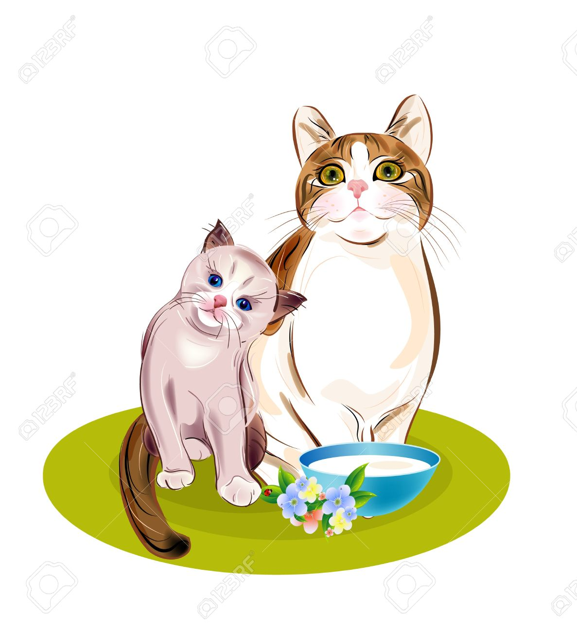 Puppy And Kitten Clipart