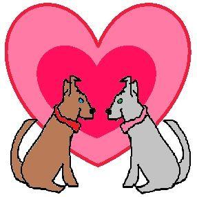 Puppy Valentine Clipart