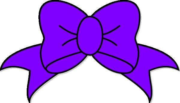 600x346 Purple Bow Clip Art