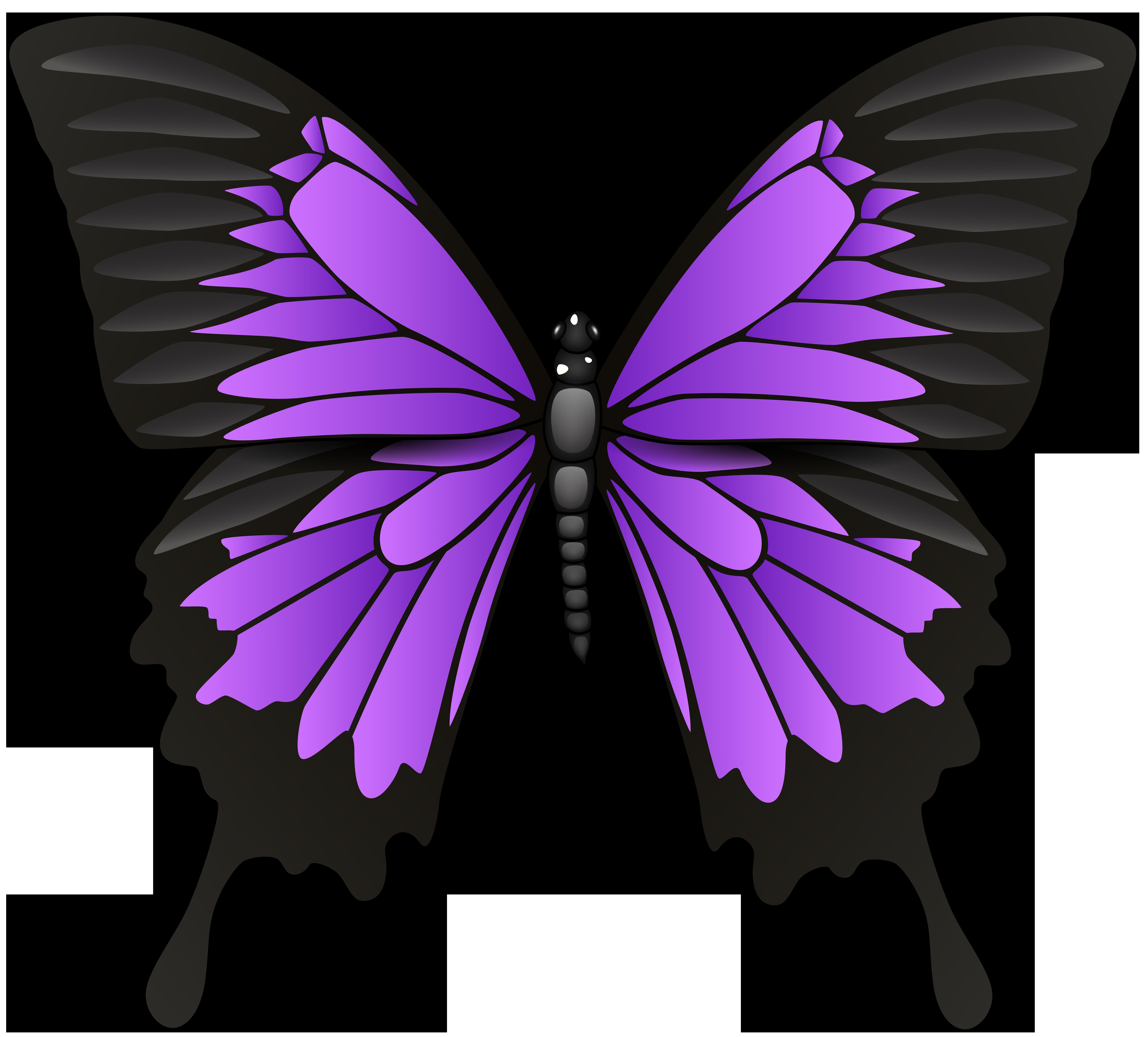 8000x7224 Purple Butterfly Png Clip Art