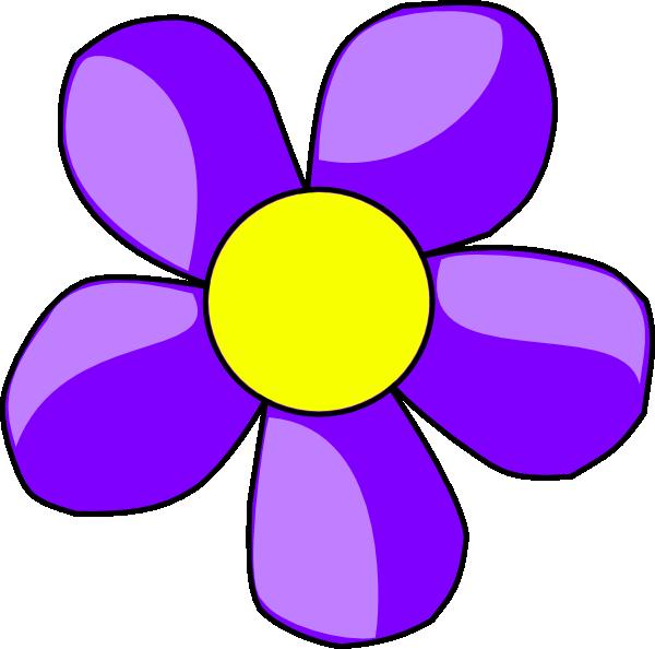 600x594 Purple Flower Clip Art
