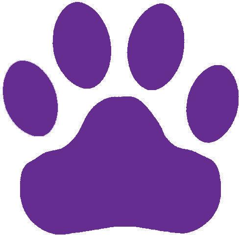 488x480 Purple Paw Print Clip Art