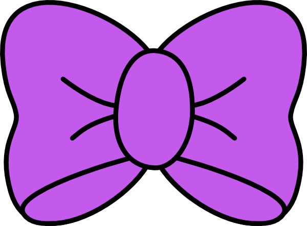 600x443 Purple Bow Clip Art