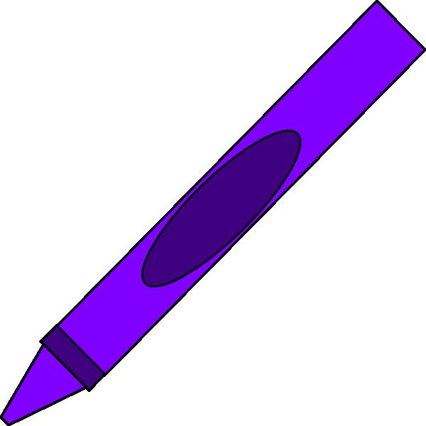600x600 Totetude Purple Crayon Clip Art