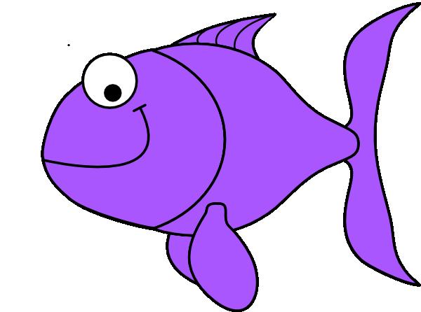 600x446 Fish Clipart Purple Fish Clip Art