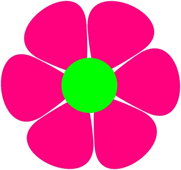 600x564 Clip Art 60s Flowers