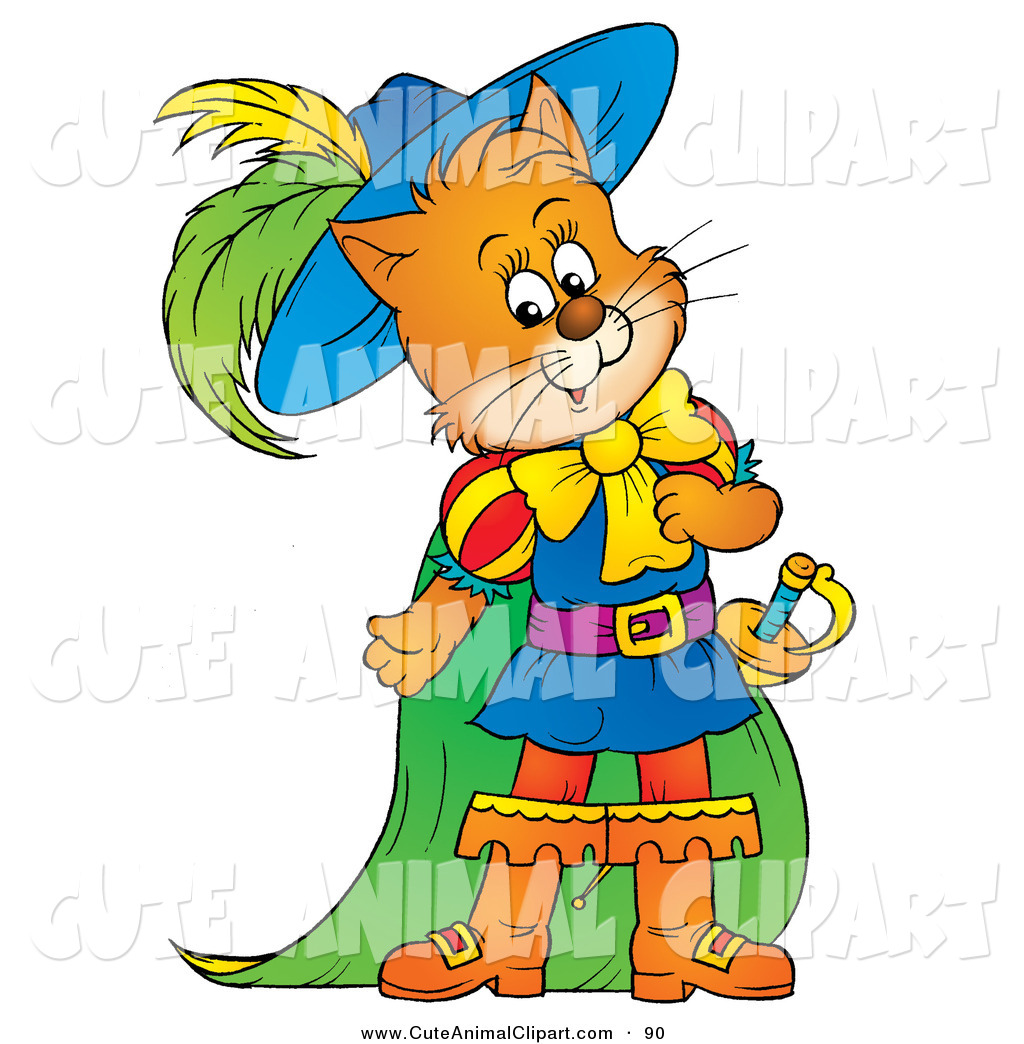 1024x1044 Clip Art Of A Cute Ginger Cat, Puss In Boots, In Colorful Clothes