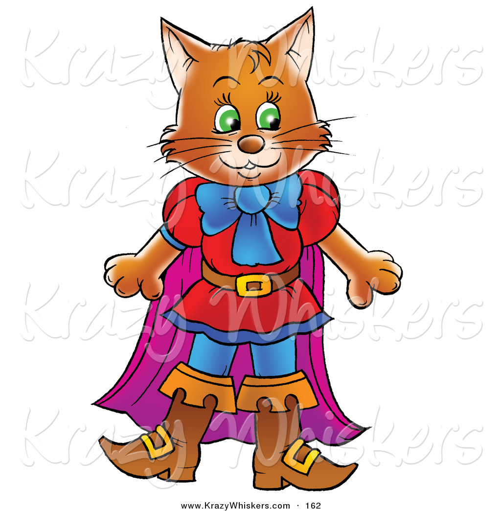 1024x1044 Critter Clipart Of A Happy Brown Cat Clothes And Boots, Puss