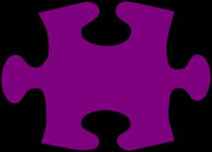 297x213 Spectacular Design Barney Clipart Purple Jigsaw Puzzle Piece Large