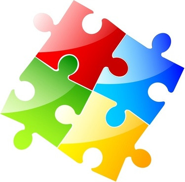 375x368 Free Clip Art Jigsaw Puzzle Pieces Shapes