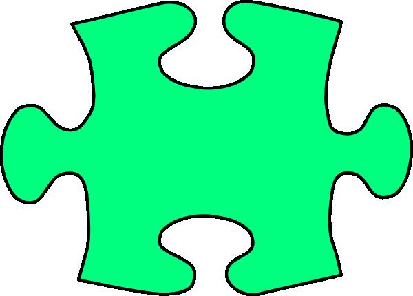 600x430 Green Jigsaw Puzzle Piece Large Clip Art