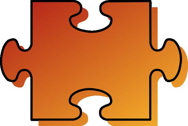 600x402 Jigsaw Orange Puzzle Piece Clip Art