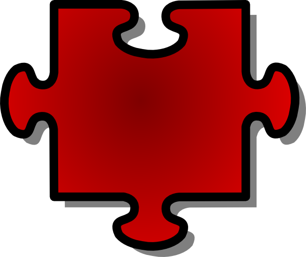 600x503 Jigsaw Red Puzzle Piece Clip Art Free Vector 4vector
