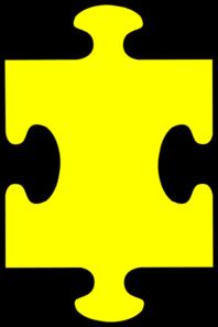 198x297 Puzzle Piece Yellow Clip Art Clipart Panda